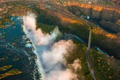Victoria- Fallsantenne Stockbilder