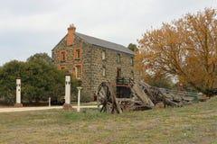 Victoria Flour Mills (1869) a été inondée en 1909 et en 1914 fermée C'est maintenant une résidence privée Image libre de droits