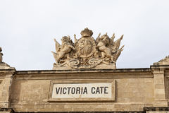 Victoria Gate in capital of Malta - Valletta, Europe.  Stock Photo