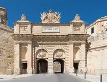 Victoria Gate en La Valeta Malta imagen de archivo