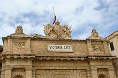 Victoria Gate, La Valletta, Malta Fotografia Stock Libera da Diritti