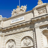 The Victoria gate, one of the entrances to Valletta, capital of Stock Photos