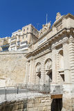 The Victoria gate, one of the entrances to Valletta, capital of Royalty Free Stock Photo