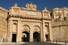 Victoria Gate - Valetta Stock Photo