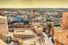Victoria, Gozo island, Malta: aerial view from the Cittadella. Also known as Citadel, Castello Royalty Free Stock Photo