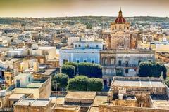 Victoria, Gozo island, Malta: aerial view from the Cittadella. Also known as Citadel, Castello Stock Photography