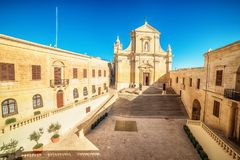 Victoria, Gozo island, Malta: Cathedral of the Assumption in the Cittadella. Also known as Citadel, Castello Stock Photos