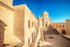 Victoria, Gozo island, Malta: Cathedral of the Assumption in the Cittadella. Also known as Citadel, Castello Royalty Free Stock Photos