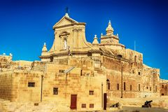 Victoria, Gozo island, Malta: Cathedral of the Assumption in the Cittadella. Also known as Citadel, Castello Royalty Free Stock Images