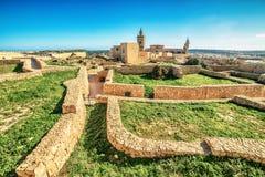 Victoria, Gozo island, Malta: the Cittadella. Victoria, Gozo island, Malta: ruins of the Cittadella, also known as Citadel, Castello Stock Photos