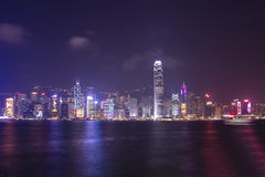 Victoria-Hafen bei Hong Kong Lizenzfreie Stockfotos