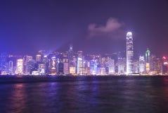 Victoria-Hafen bei Hong Kong Stockbild