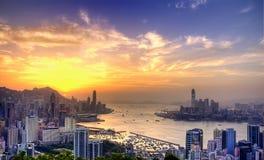 Victoria-Hafen in HK Stockbilder