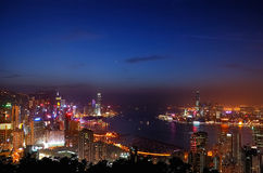 Victoria-Hafen in HK Stockbild