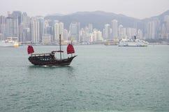 Victoria-Hafen in Hong Kong Stockbild