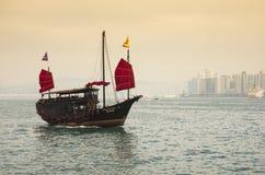 Victoria-Hafen in Hong Kong Lizenzfreie Stockbilder