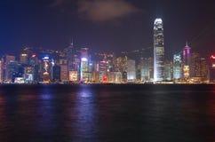 Victoria-Hafen in Hong Kong Stockbilder