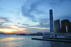 Victoria-Hafen von Hong Kong Lizenzfreie Stockfotografie