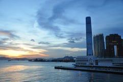 Victoria hamn av Hong Kong Royaltyfri Fotografi