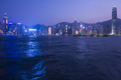 Victoria hamn på Hong Kong Royaltyfria Bilder