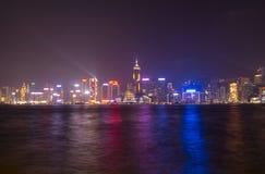 Victoria hamn på Hong Kong Fotografering för Bildbyråer