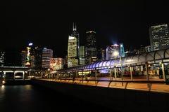 Victoria hamn på natten Royaltyfria Foton
