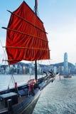 Victoria Harbor av Hong Kong Arkivfoto