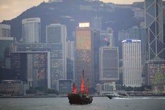 Victoria Harbor av Hong Kong Arkivbild