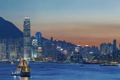 Victoria Harbor av Hong Kong City Royaltyfri Foto