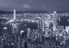 Victoria Harbor av Hong Kong City Arkivbilder