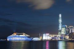 Victoria Harbor av Hong Kong City Arkivfoton