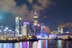 Victoria Harbor av Hong Kong City Royaltyfria Foton