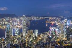 Victoria Harbor av Hong Kong City Royaltyfri Bild