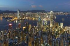 Victoria Harbor av Hong Kong City Royaltyfri Fotografi