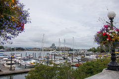Victoria Harbor in British Columbia Stock Photo