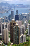 Victoria harbor and city view of Hongkong Royalty Free Stock Image