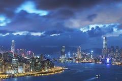 Victoria Harbor de Hong Kong City Foto de archivo libre de regalías