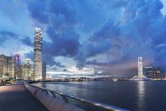 Victoria Harbor de Hong Kong City Photographie stock libre de droits