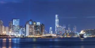 Victoria Harbor de Hong Kong City Imágenes de archivo libres de regalías