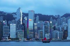 Victoria Harbor de Hong Kong City Fotografía de archivo libre de regalías