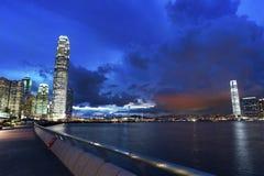 Victoria Harbor de Hong Kong City Fotografía de archivo