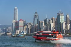 Victoria Harbor di Hong Kong City Fotografia Stock