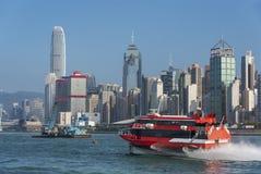 Victoria Harbor di Hong Kong City Fotografie Stock Libere da Diritti