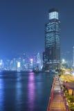 Victoria Harbor di Hong Kong City alla notte Immagine Stock Libera da Diritti