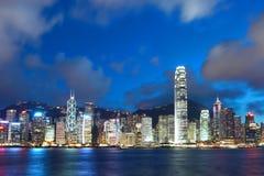Victoria harbor of Hong Kong Royalty Free Stock Image