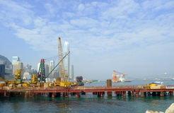 Victoria harbor of hong kong Royalty Free Stock Images