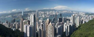 Victoria harbor of Hong Kong Royalty Free Stock Photos