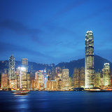 Victoria Harbor - Hong Kong Royalty Free Stock Images