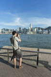 Victoria harbor of Hong Kong Royalty Free Stock Photography