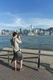 Victoria harbor of Hong Kong Royalty Free Stock Photography